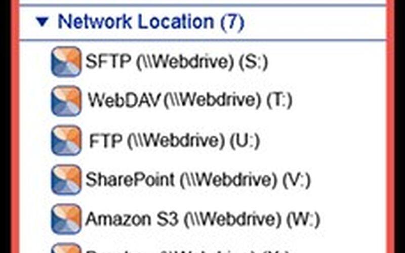 Скриншот 1 программы WebDrive