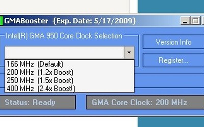 Скриншот 1 программы GMABooster