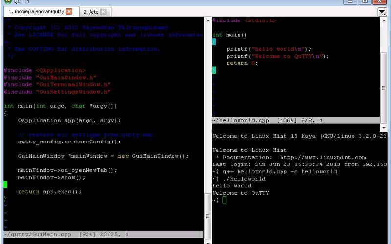 Скриншот 1 программы QuTTY