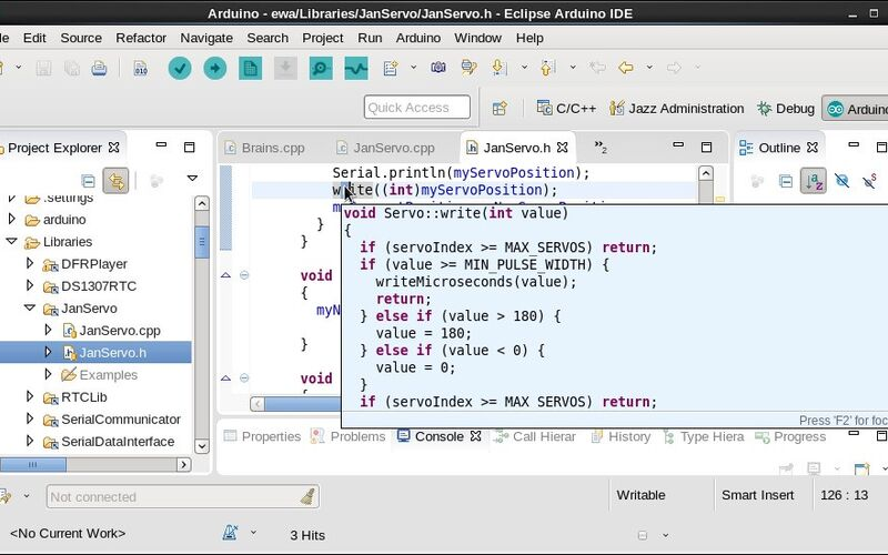 Скриншот 1 программы Arduino Eclipse plugin