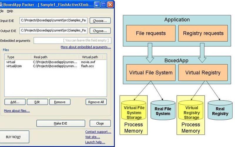 Скриншот 1 программы BoxedApp Packer