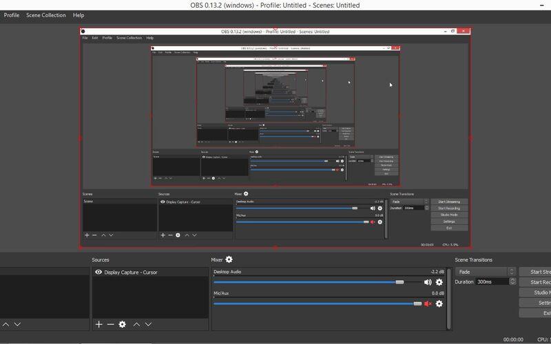 Скриншот 1 программы Open Broadcaster Software