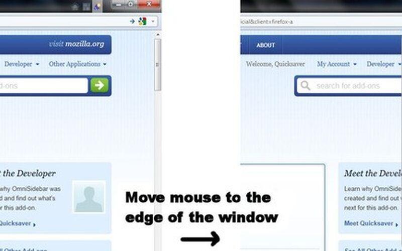 Скриншот 1 программы OmniSidebar