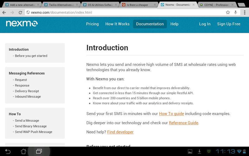 Скриншот 1 программы Nexmo