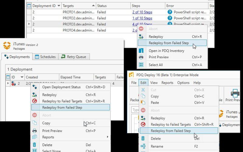 Скриншот 1 программы PDQ Deploy