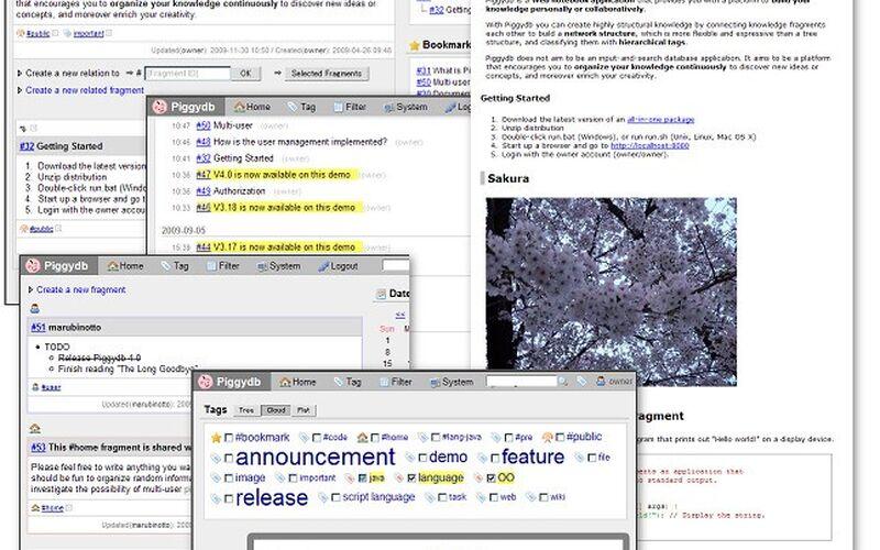 Скриншот 1 программы Piggydb