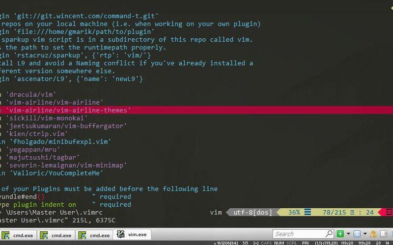 Скриншот 1 программы cmder