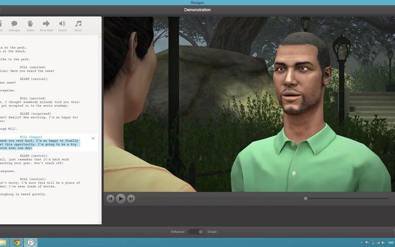 Скриншот 1 программы Plotagon