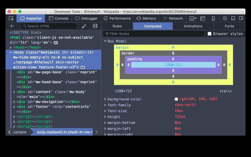 Скриншот 1 программы Firefox Developer Tools