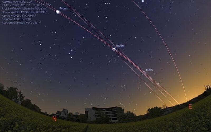 Скриншот 1 программы Stellarium