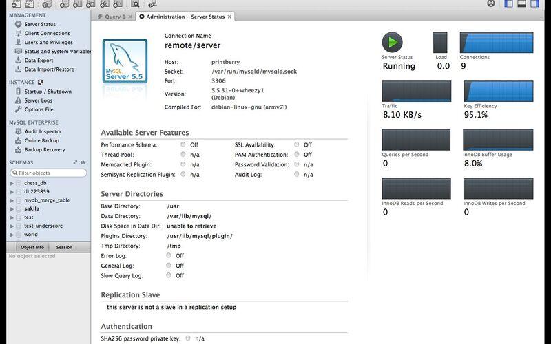 Скриншот 1 программы MySQL Workbench