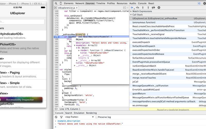 Скриншот 1 программы React Native