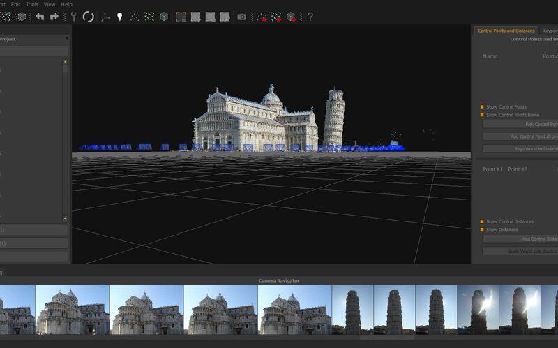Скриншот 1 программы 3DF Zephyr Pro