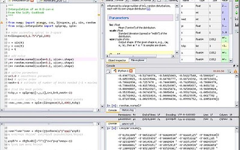 Скриншот 1 программы python(x,y)