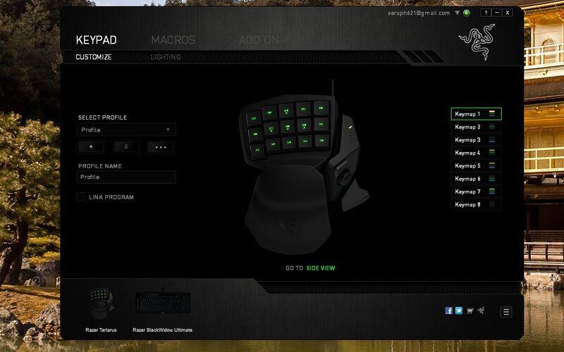 Скриншот 1 программы Razer Synapse