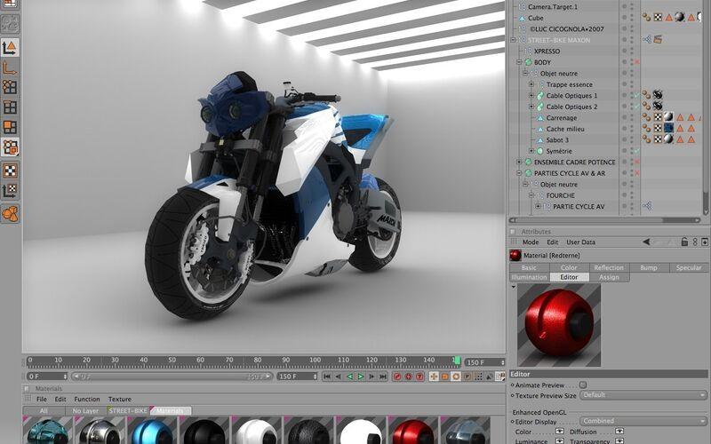 Скриншот 1 программы Cinema 4D
