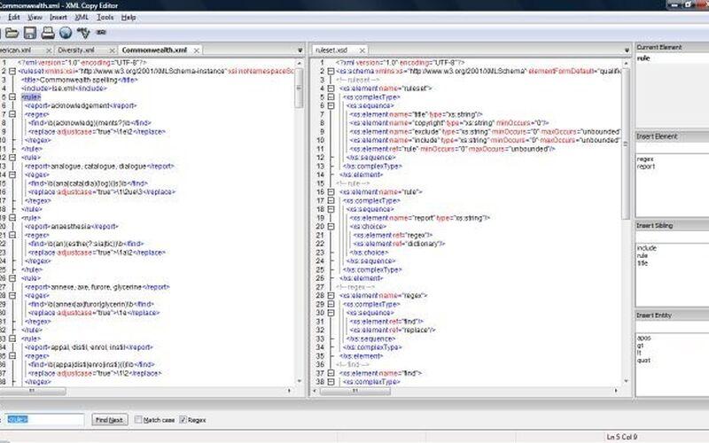 Скриншот 1 программы XML Copy Editor