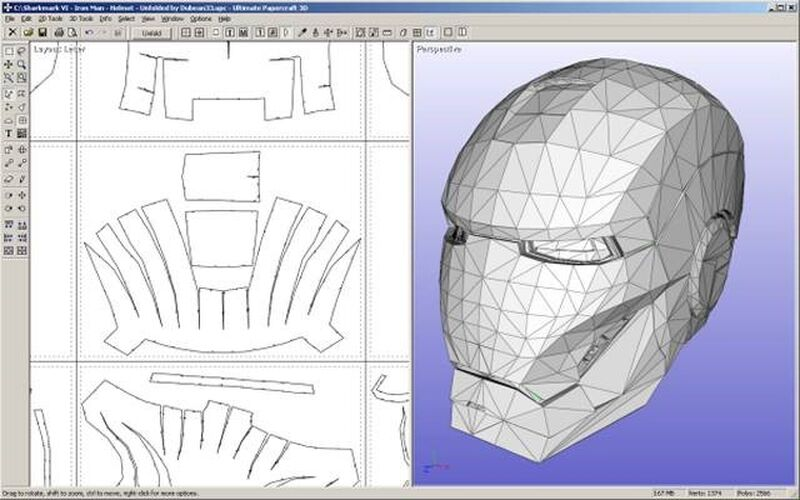 Скриншот 1 программы Ultimate Papercraft 3D