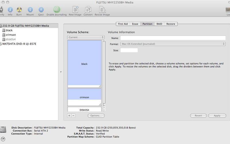 Скриншот 1 программы Disk Utility