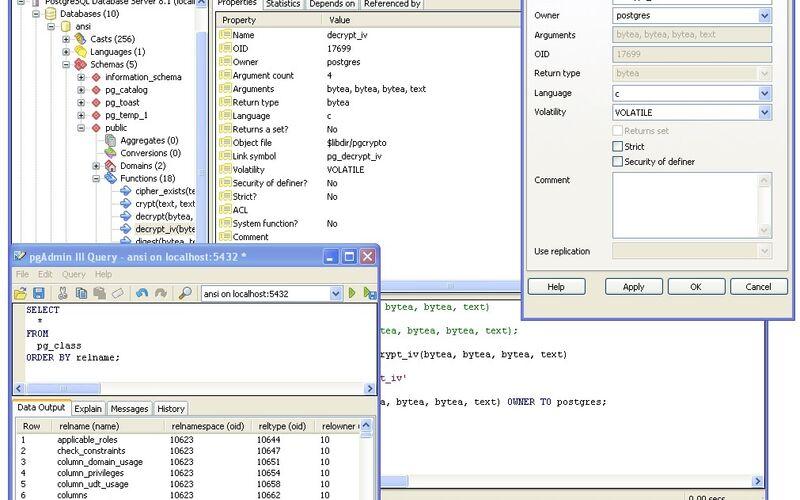 Скриншот 1 программы pgAdmin