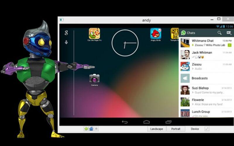 Скриншот 1 программы Andy