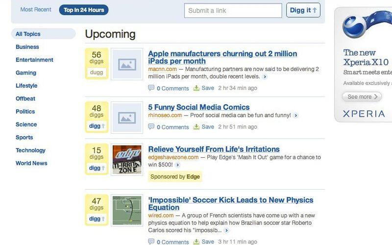 Скриншот 1 программы Digg