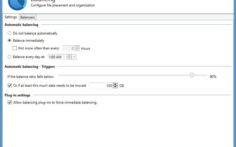 Скриншот 1 программы StableBit DrivePool