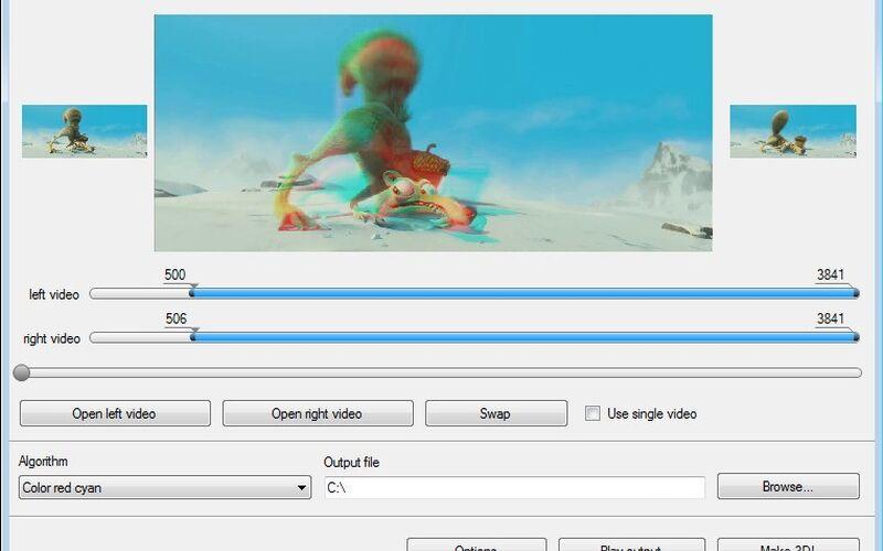 Скриншот 1 программы Free 3D Video Maker