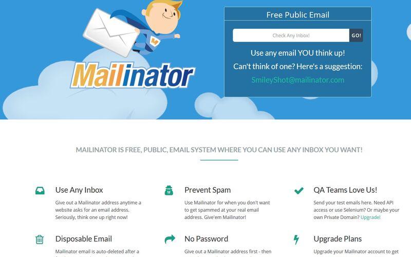 Скриншот 1 программы Mailinator