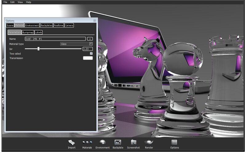 Скриншот 1 программы Keyshot