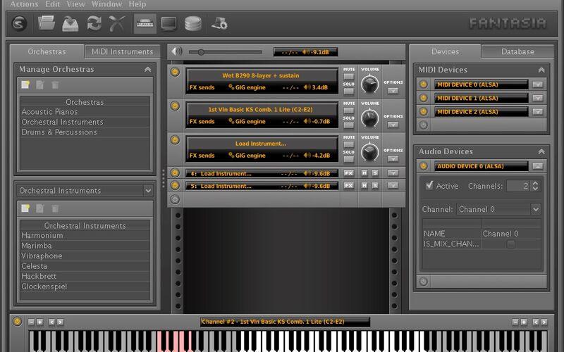 Скриншот 1 программы LinuxSampler