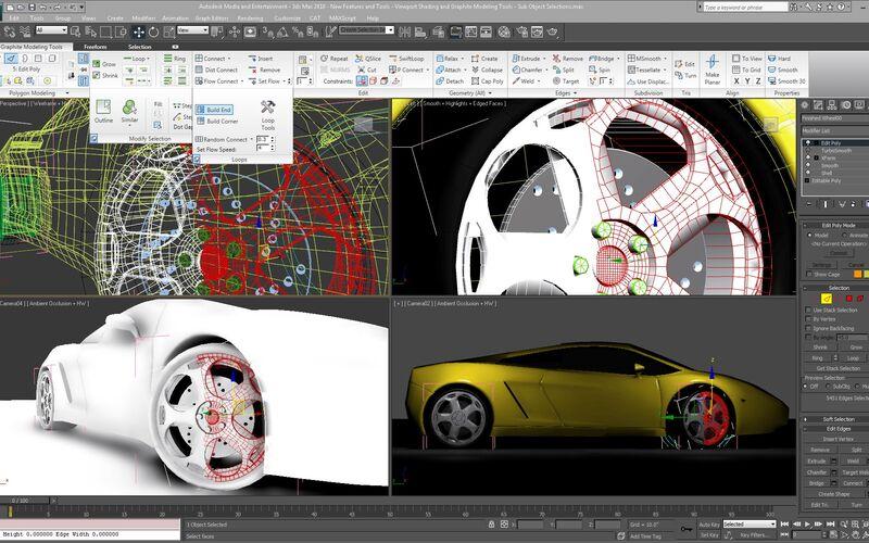 Скриншот 1 программы Autodesk 3ds Max