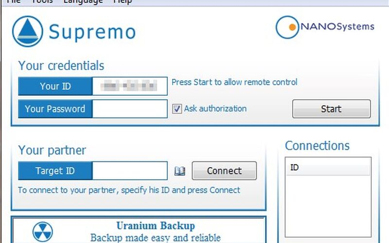 Скриншот 1 программы Supremo