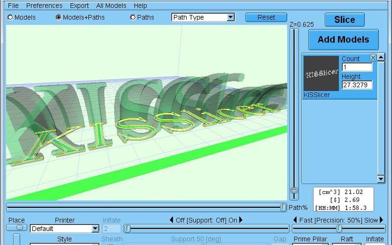Скриншот 1 программы KISSlicer