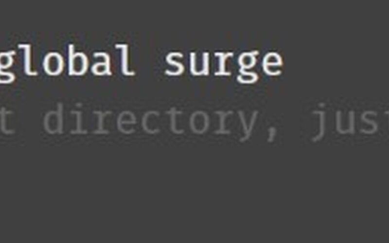 Скриншот 1 программы surge.sh