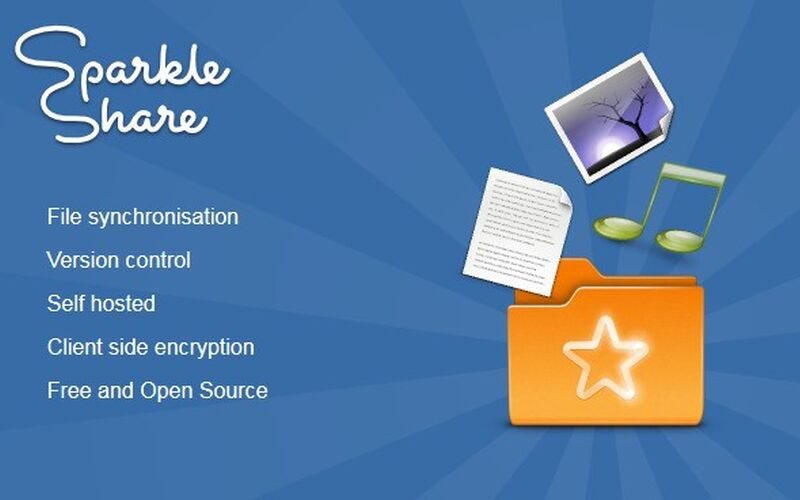 Скриншот 1 программы SparkleShare
