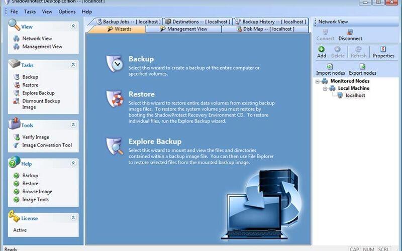 Скриншот 1 программы ShadowProtect