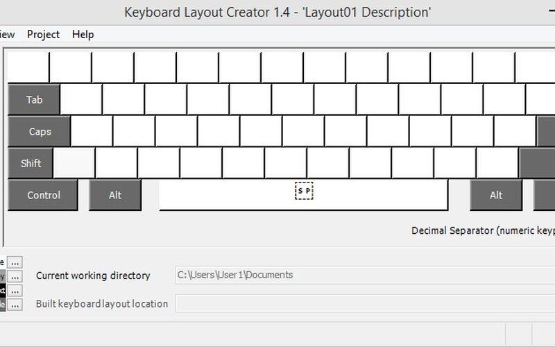 Скриншот 1 программы Microsoft keyboard layout creator