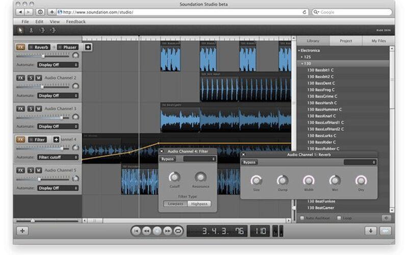 Скриншот 1 программы Soundation Studio