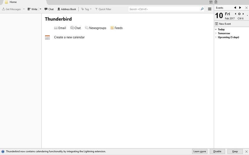 Скриншот 1 программы Thunderbird