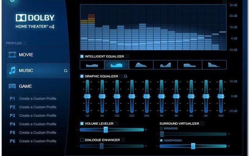 Скриншот 1 программы Dolby Home Theater