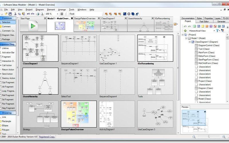 Скриншот 1 программы Software Ideas Modeler