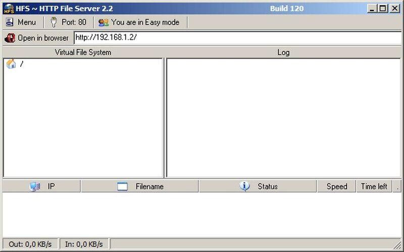 Скриншот 1 программы HFS (HTTP File Server)