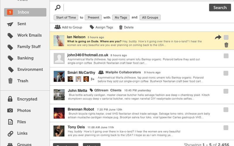 Скриншот 1 программы Mailpile