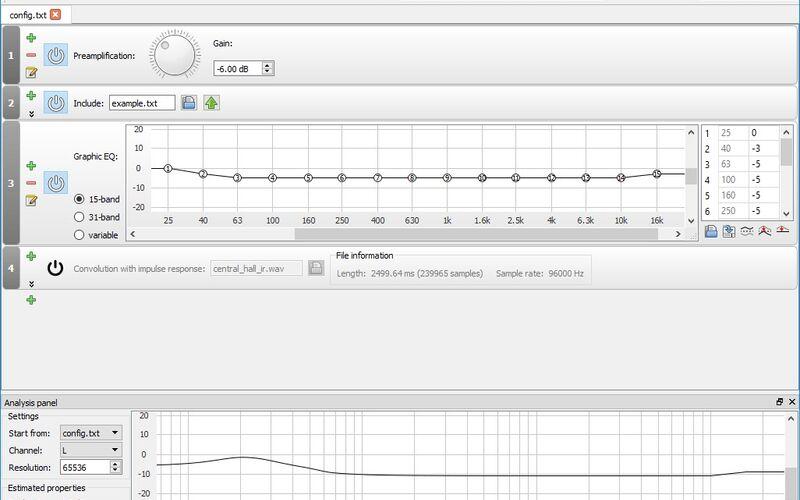 Скриншот 1 программы Equalizer APO