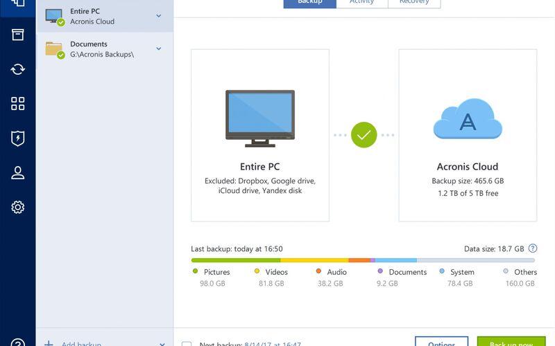 Скриншот 1 программы Acronis True Image