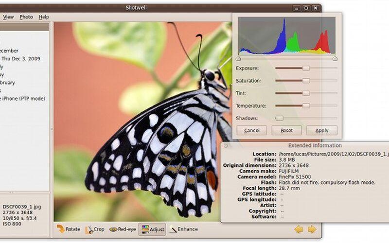Скриншот 1 программы Shotwell