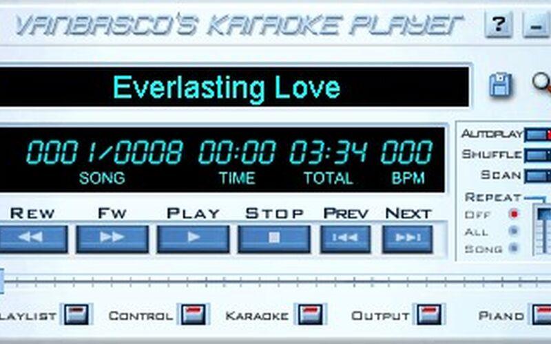 Скриншот 1 программы vanBasco's Karaoke Player