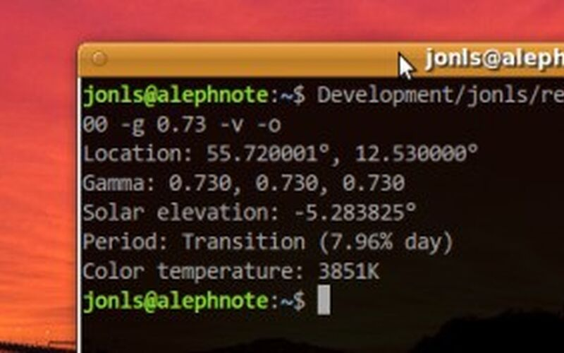 Скриншот 1 программы Redshift