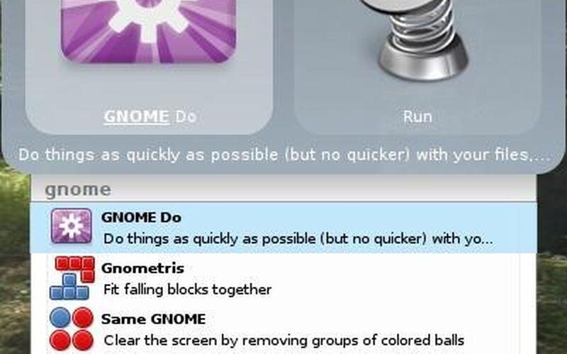 Скриншот 1 программы Gnome Do